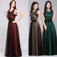 Разработанный Robe de Soiree Longue Элегантное Черное Кружево Красное Вечернее Платье Длинные Дешевые Аппликации Шифон Вечернее Платье Vestido de Festa CPS590