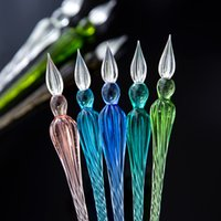 1Pc Sobrevalor Crystal Glass Dip Pen Signature Plumas Plumas Bussiness Offices School Stationery