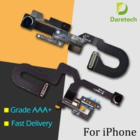 Yüksek Kaliteli Ön Bakan Kamera Proximity Işık Sensörü Flex Şerit Mikrofon iPhone 7 7 Artı Için Flex Kablo Değiştirme