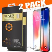 2 حزمة حامي الشاشة آيفون 13 iPhone 12 Pro Max 11 XR XS Max 8plus X الزجاج المقسى لسامسونج A20E A40 A50 حافة مدورة 2.5D