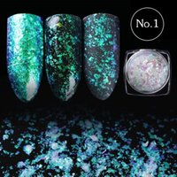 0. 2g Transparent Chameleon Mirror Powder Fireworks Nail Art ...