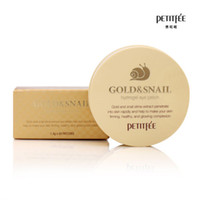 PETITFEE Gold Snail Eye Patch 60pcs Face Care Remove Black F...