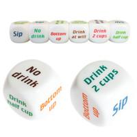 MENGXIANG Funny Adult Drink Decider Dice Party Game Jouer à boire du vin Mora Dice Jeux Party Favors Festive Supplies