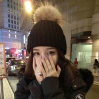 Pom Poms Ball Beanie Acryl Mützen Winter Warm Plain Hüte Erwachsene Slouchy Mens Womens Schnee Warme Mütze