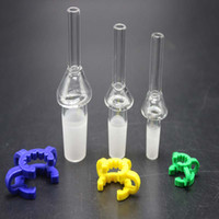 Quarzo Tip Nail Quarzo Bocchino con la plastica 10 millimetri clip 14 millimetri 18 millimetri comune per DAB paglia corredo del pettine di vetro tubo di acqua di trasporto