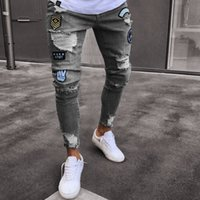 Fashion Clothes Fashion Mens Skinny Jeans Ripped Destroyed D...