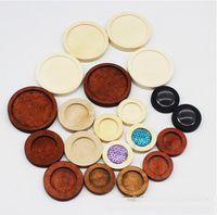 10pcs Hollow frame legno collana rotonda Base inferiore cura cura cornice Impostazione del pendente Impostazione fascino in resina UV