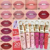 Matte Lip Gloss 20 Color New Cosmetics Cmaadu Liquid Lipstick 24 horas a prueba de agua con vitamina E 12ml