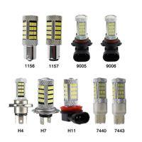 كوب أدى ضوء التصميم H8 / H11 لمبة الضباب مصباح القيادة ضوء H4 H7 9005/9006 1156/1157 LED ل ألفا روميو