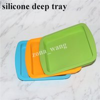 """silicone piatto in silicone a forma di padella piatto quadrato 8 """"X8"""" antiaderente in silicone tampone dab concentrato vassoio in silicone alimentare per alimenti DHL"""