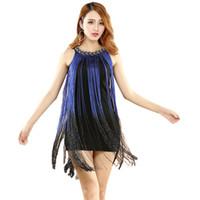 2016 de alta calidad barato franja trajes de baile latino para las mujeres niñas borla falda de baile latino en venta