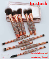 2018 New Makeup Brush 10pcs set Professional brushes Powder ...