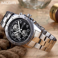 MEGIR Chronograph Watches Mens Top Brand Luxury Quartz Watch...