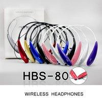 HBS800 Bluetooth Kulaklıklar 3.0 Spor Stereo Kablosuz Boyun Bandı Kulaklık Iphone Huawei Evrensel Telefon Için Mic Ile Bas