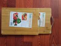 Cutting board natural bamboo chopping board 1. 8 thick carbon...