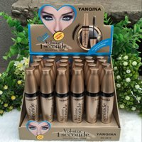 YANQINA Brand Black Eye Mascara Long Eyelash Silicone Brush ...