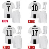 Crianças 18 19 RONALDO CR7 juventus camisa de futebol Marchisio DYBALA  camisa de futebol crianças conjunto 29bb562a7328b