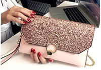 2018 hot Fashion solid women' s clutch bag women envelop...