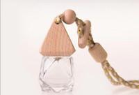 Ahşap Cap İçin Oda Parfümü Diffüz Cam şişeler ile Sıcak Satış Boş Parfüm Şişeleri Temizle asılı araba parfüm şişesi