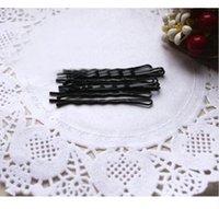 1 Paquete 60 unids Popularidad Horquillas Simples Aleación de Pelo Negro Pinza de Pelo Bobby Pin Accesorios Para el Cabello Headwear Punta de Pelota Bob Pins