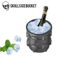 Silicone Saving Ice Cube Maker Silicone Skulls Ice Bucket Th...