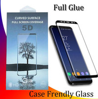 Wholesale Full Adhesive Glue Tempered Glass Case Friendly 3D...