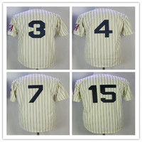 New York Jersey 7 Mickey Mantle 3 Babe Ruth Jersey 4 Lou Geh...