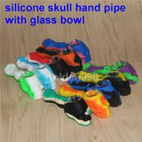 Silicone a buon mercato in vetro Bong Dab Oil Rigs Mini fumo cranio tubo tubi a mano Mini Waterpipe Piccoli bong in silicone