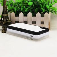 2D Rubber TPU DIY Sublimation Case voor iPhone X XR XS XS 5S SE 6 6S 6 7 8 Plus 7 8 Plus met aluminium metalen plaatlijm 50pcs / lot