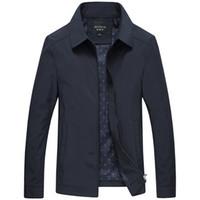 Primavera Otoño Hombres Moda Varsity Jacket Calidad Solid Black Male  Windbreakers Alta Calidad Marca Hombres Ropa 62ba2d2fd79e8