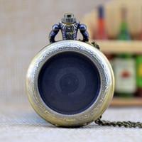 Os Recém-chegados Pode Ser Afixada Foto Steampunk Relógio De Bolso De Quartzo Analógico Pingente de Colar Das Mulheres Dos Homens de Bolso Pocket Watch 3 Cores