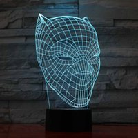 3D Led Touch Usb Luminous Black Panther Modelling Nightlight...