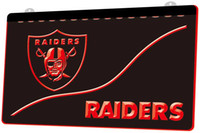 LS897- r- Oakland Raiders 3D LED Neon Light Sign Decor Free Sh...