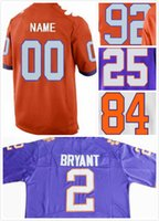 Custom Clemson College Jerseys Грег Хьюгель 92 Кэннон Смит 84 J.C Мел 25 Гарретт Уильямс 44 Уилл Спирс 48 Райан Мак Лэйн 37 Сшитый S-3X