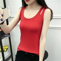 The new double- layer cotton camisole female spring and autum...