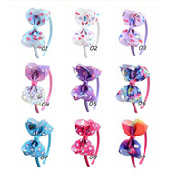4 inch kid girl bow headdress JOJO print headband hair hoop ...
