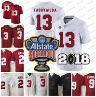 NCAA Alabama Crimson Tide 13 Tua Tagovailoa 2 Jalen Hurts 3 Ridley 29 Fitzpatrick 9 Scarbrough 2018 Championship Football Jersey Bowl Patch
