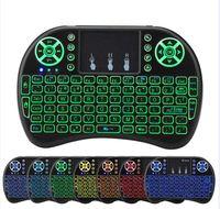 RII i8 Clavier rétro-éclairé mini clavier sans fil i8 Rétro-éclairage Air Mouse Télécommande avec pavé tactile Pour X96 Mini Mini TX3