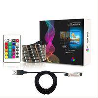 SMD 5050 유연한 DC5V USB RGB TV 배경 LED 스트립 빛 방수 1M 2M 3M 4M 5M 30LEDs 크리스마스 데스크 장식 LED 스트립 빛