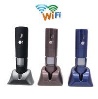 1080P Portable Wifi USB Microscope de poche numérique 50-1000x endoscope de grossissement sans fil 8 lumières LED mini caméra