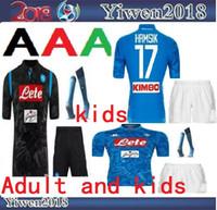Camisetas de fútbol de adultos y niños 18 19 napoli casa 2018 2019 Nápoles  ZIELINSKI HAMSIK 9974e62eb7559