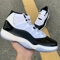 New 11 High Concord 45 Men Basketball Shoes XI 11s black whi...