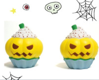 Cute Jumbo Pumpkin Ice Cream Cake Squishy Slow Rising Straps...