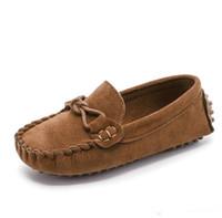 Enfants Pas Cher Marque Casual Chaussures Chinois Semelle Confortable Fille Garçon Nubuck En Cuir Souple Chaussures Enfants Doudou