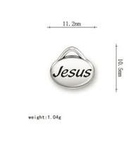2021 아연 합금 문자 예수님 메시지 매력 작은 장식 보석