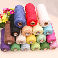 3mm x 200m Colorful Cord Rope Natural Beige Cotton Cord Twis...