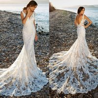 Eddy K 2018 Wedding Dress Beach Sheer Lace Appliques Robe De...