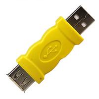 USB konnektörü sarı renkli USB 2.0 A dişi bir Jack adaptörü AM, AF USB dönüştürücü