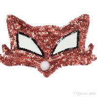 Lady Halloween Mezza Faccia Maks Masquerade Costume da donna Ball Paillettes Maschera di volpe Moda creativa Bead Piece Ornamenti 3 5hj Ww