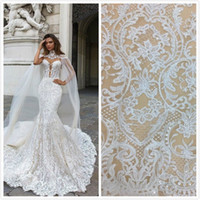 2018 wedding dresses 5yard white Embroidery bridal dresses l...